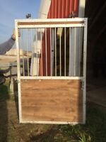 2 Stall doors with tracks