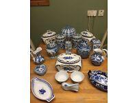 Collection of Blue Patterned Porcelain