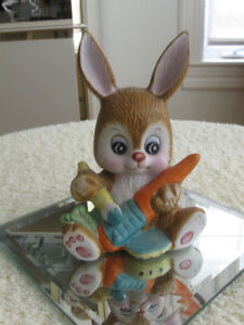 ADORABLE BUNNY ORNAMENT for a CHILD'S ROOM....
