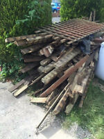 Looking for used decking or fence
