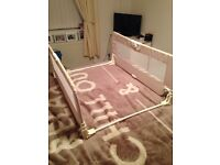 Double sided bed guard