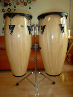 Paire de Congas LP (Cosmic  Percussion) avec support