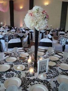 Eiffel tower vases -  black   wedding/party