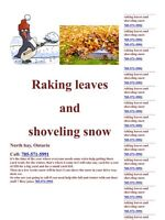 Raking leaves and shoveling snow