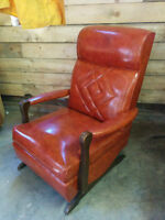 Beautiful Vintage Leather Rocker - Delivery Available