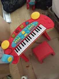 kids piano drummer and wheel car for sale