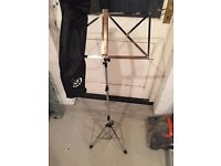 chrome music stand instruments
