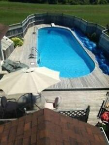 PRIVATE HOME WITH INGROUND HEATED POOL