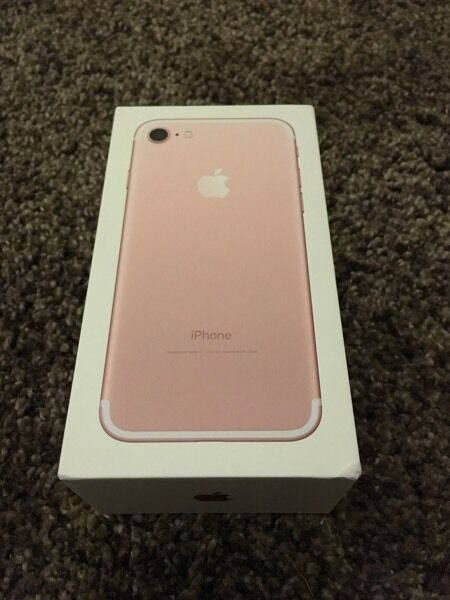 IPhone 7 Rose Gold 128gb on EE