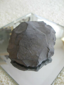 """DOWN-to-EARTH"" OLD VINTAGE NATURAL SLATE-ROCK PAPERWEIGHT"