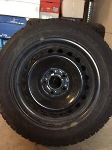 Winter tires on rims mint condition
