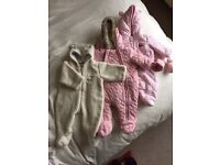 Baby Girl All In One Winter Suits (0-3mth)