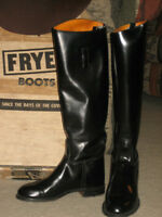 TOP QUALITY BOOTS FRYE Black Full All Leather US Made