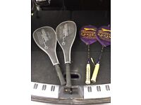 Badminton and squash rackets