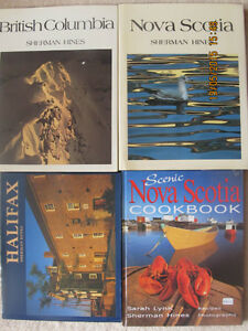 SHERMAN HINES BOOKS – Qty 4, 1 Signed