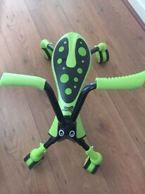 Green scramble bug toy ride on