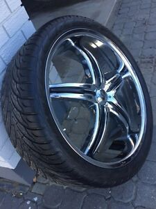 Viscera 22 inch rims with tires