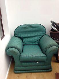 Comfortable green armchair