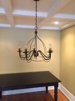 Chandelier black rubbed finish