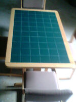 Tiled kitchen table plus four chairs