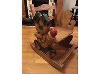 Children's wooden rocking chairs