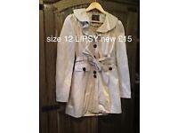 LIPSY mac coat brand new size 12