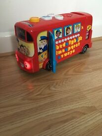 Learning bus, numbers letters and songs