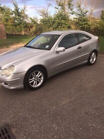 53 Plate Mercedes Coupe 130 Milage £1000