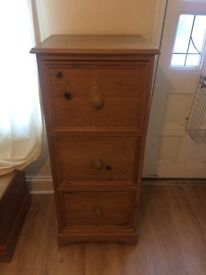Tall chest of drawers, solid pine