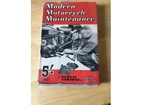 Old vintage book modern motorcycle maintenance by Bernal Osborne