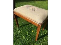 Vintage dressing table stool for sale