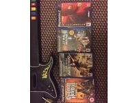 PlayStation 2 games and guitar