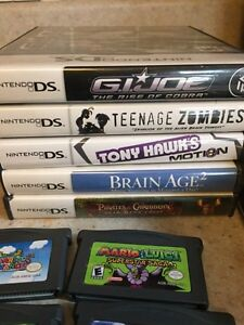 Nintendo ds lite, 10 games and a hard case  London Ontario image 4