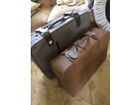 Free - 2 Suitcases - Brown Grey Suitcase