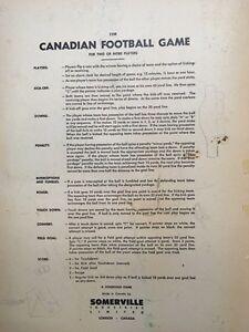 vintage Canadian Football Board Game Oakville / Halton Region Toronto (GTA) image 6
