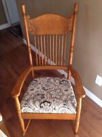 Press back rocking chair