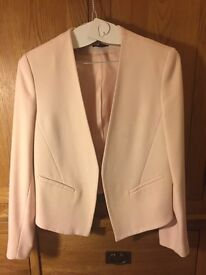 Dusty pink topshop cropped blazer