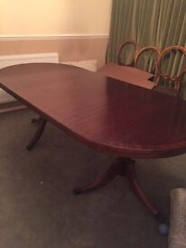 Classic extending dining table