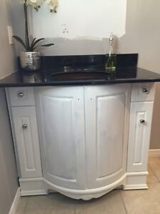 Solid wood Bathroom vanity only (top not included ) West Island Greater Montréal image 1