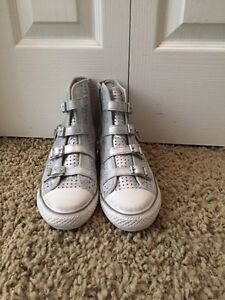 Ash silver leather shoes brand new! Size 8 Cambridge Kitchener Area image 2