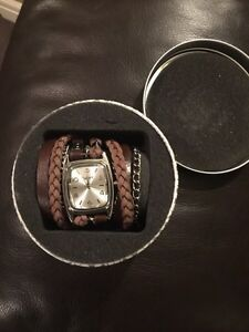 Winky watch with beautiful wrap around leather straps $50 Strathcona County Edmonton Area image 1