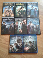 Complete Harry Potter movie collection - 6x dvds, 2x blurays