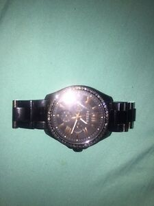 FOSSIL CECILE STAINLESS STEEL WATCH BLACK (female) Cambridge Kitchener Area image 3