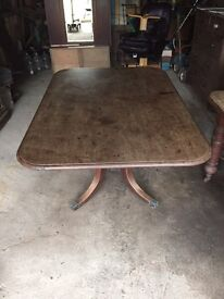 Folding dining table