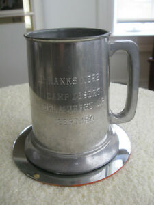 VINTAGE ['70's] MARLBORO PEWTER GLASS-BOTTOMED BEER STEIN