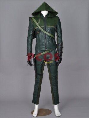 BEST Price~ Green Arrow Season 1 Oliver Queen America Cosplay Costume
