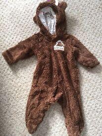 0-3 months gruffalo snowsuit/pramsuit