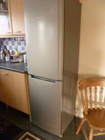 fridge with freezer silver hot point like new
