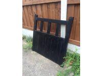 New black wooden garden gate