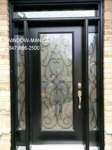 Glass Front Entrance Iron Door Entry  Best Pricing and Service